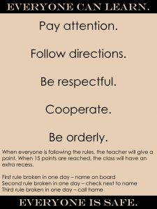 Classroom Rules 4