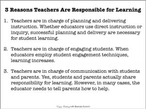 3 Reasons Teachers Are Responsible for Student Learning