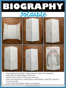 Biography Foldable