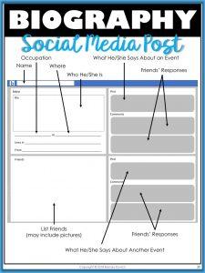 Biography Social Media Post