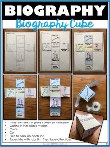 Biography Crafts 3 - Biography Cube