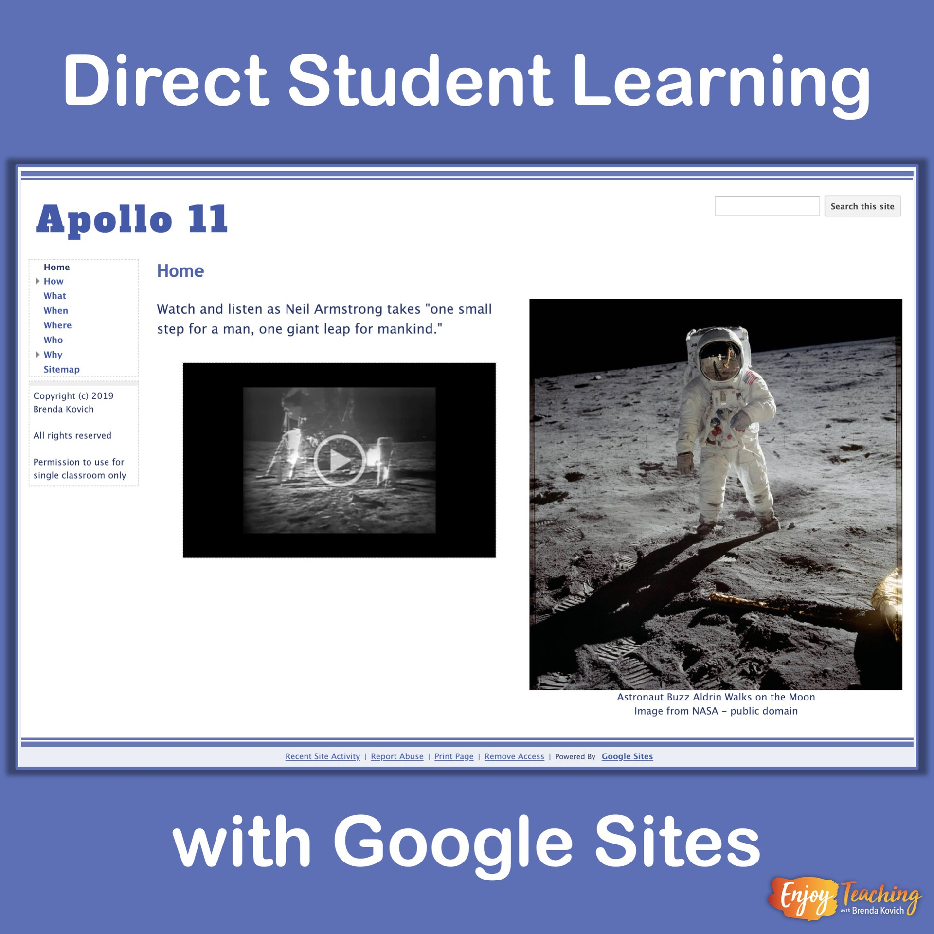 How to Direct Learning with Google Sites - Enjoy Teaching