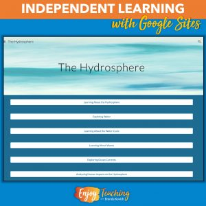 This hydrosphere site lets kids learn independently.