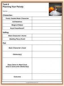 Cinderella Webquest - Planning Parody