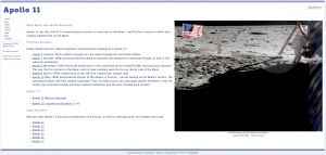 Learning with Google Sites - Apollo 11 Website What