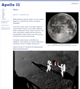 Learning with Google Sites - Apollo 11 Website Where
