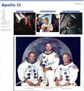 Learning with Google Sites - Apollo 11 Website Who