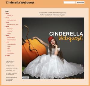 Cinderella Webquest Cover
