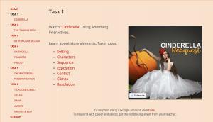 Cinderella Webquest Task 1