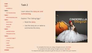 Cinderella Webquest Task 2