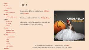Cinderella Webquest Task 4