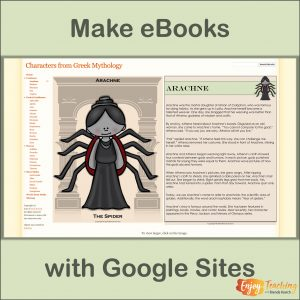 Creating an eBook with Google Sites