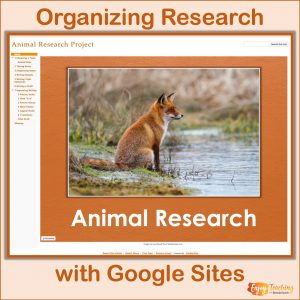 Research Projects with Google Sites Cover