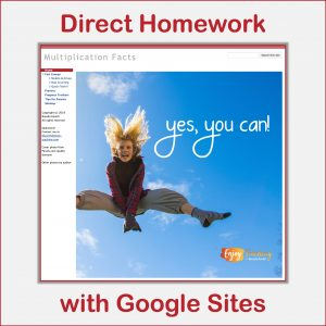 Direct Homework with Google Sites