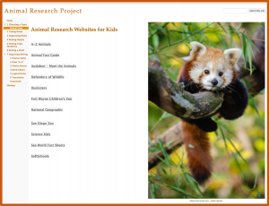 Research Projects with Google Sites - Website Links