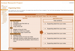 Research Projects with Google Sites - Categories