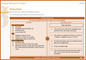 Research Projects with Google Sites - Writing Detail Sentences
