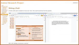Research Projects with Google Sites - Drafting