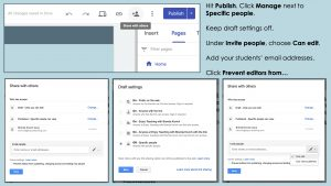 Collaborative Websites - How to Share in New Google Sites