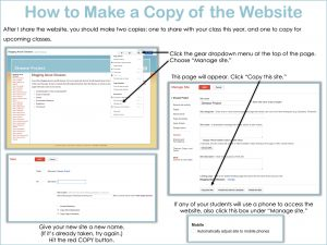 Collaborative Websites - How to Make a Copy in Classic Google Sites