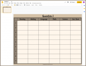 Change the Background to Your Lesson Plans Template