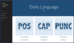Organize Your Drive with Google Sites - Daily Language Example 1