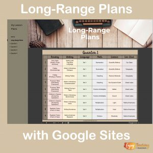 Long-Range Plans with Google Sites