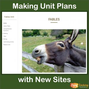 New Google Sites Unit Plans Cover