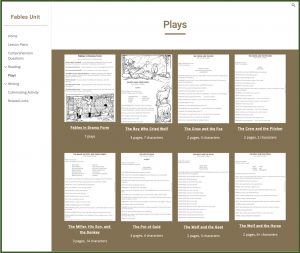 New Google Sites Unit Plans Example of Plays