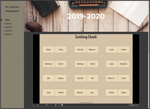 Seating Chart on Teacher Dashboard