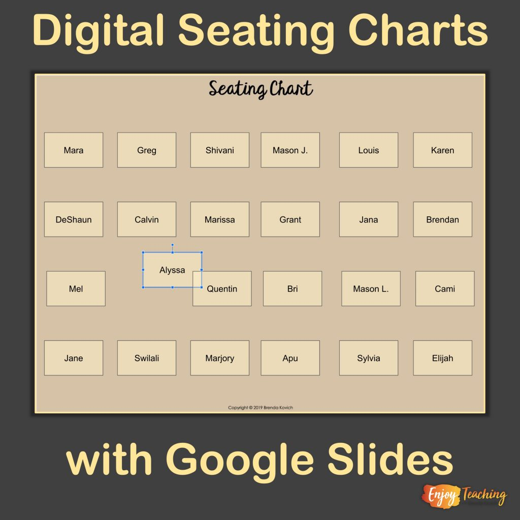 How To Make A Digital Seating Chart With Google Slides