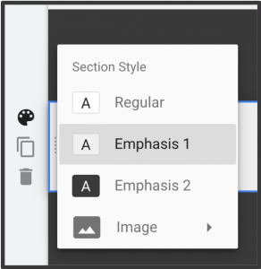 How to Select Section Style