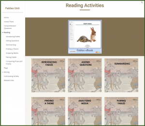 New Google Sites Unit Plans Example of eBook Link