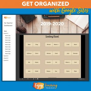 Organize all your teaching stuff in a Google Site. For example, you can embed an editable seating chart in a site.