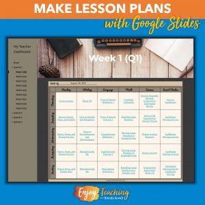 Teachers use Google Slides to embed lesson plans.