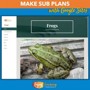 These interdisciplinary frog lesson plans are perfect for subs. They can direct learning - or let kids learn independently.