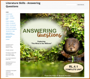 Literature Unit Created with Classic Sites
