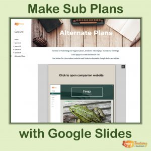 Make Sub Plans with Google Sites Cover