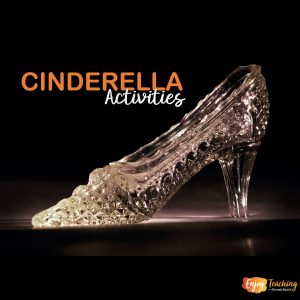 "Glass Slipper with Caption: ""Cinderella Activities"""