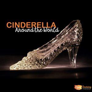 "Glass Slipper with Caption: ""Cinderella Around the World"""