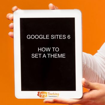 A brief video teaches you how to set a theme on Google Sites.