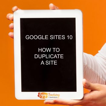 A short video shows you how to duplicate a Google Site.