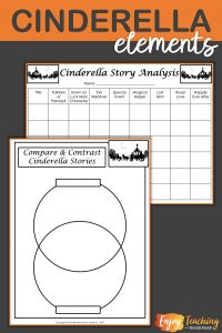 Third grade, fourth grade, and fifth grade students can compare and contrast Cinderella stories with this Venn diagram and story analysis table.