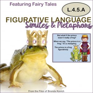 ELA Activities - Similes and Metaphors with Fairy Tale Theme