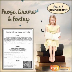 Complete Unit to Teach Prose, Drama & Poetry