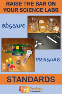 Match your science labs with your standards.