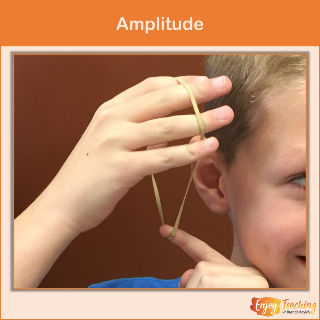 By tapping on a container filled with water, this video shows how amplitude affects vibrations.