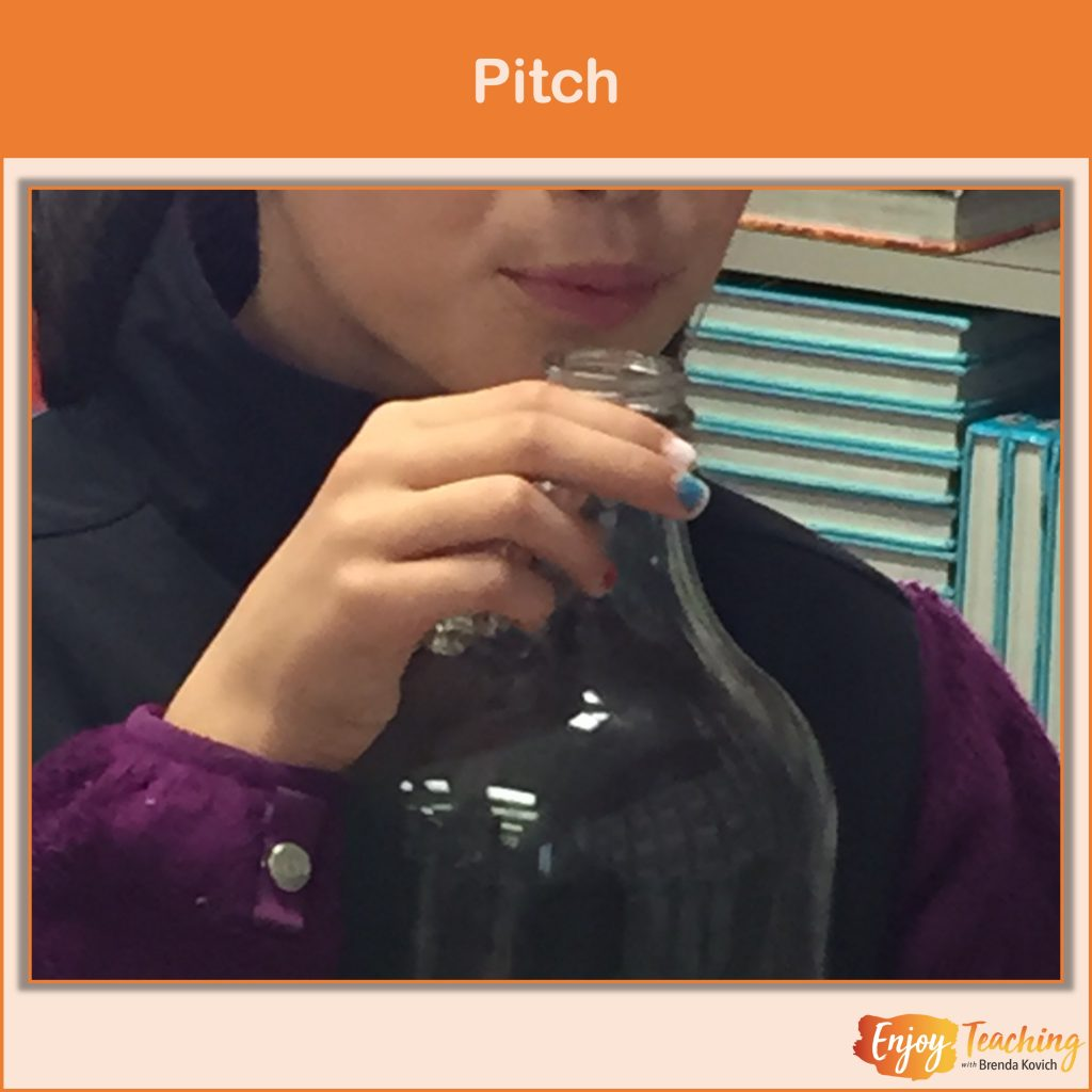 This sound energy video explains pitch.