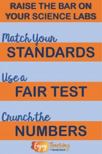 Improve your science labs by matching standards, using a fair test, and crunching numbers.