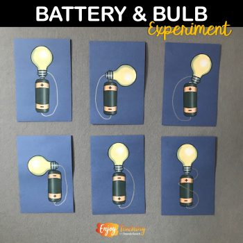 This battery and bulb experiment helps fourth grade students conceptualize electrical circuits. Visit Enjoy-Teaching.com to learn more.